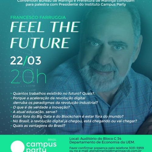 Presidente do Instituto Campus Party faz palestra em Maringá